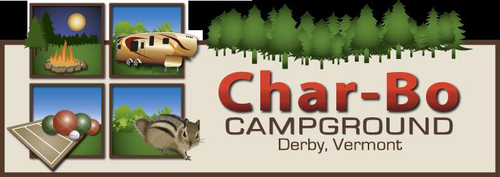 Char-Bo Campground Primary Logo Design