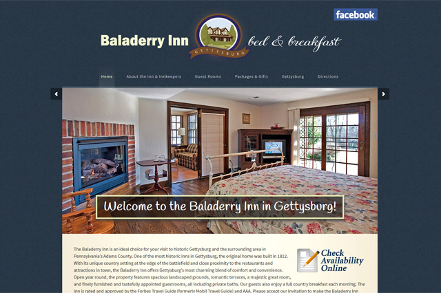 Baladerry Inn: Responsive Website by Pelland Advertising