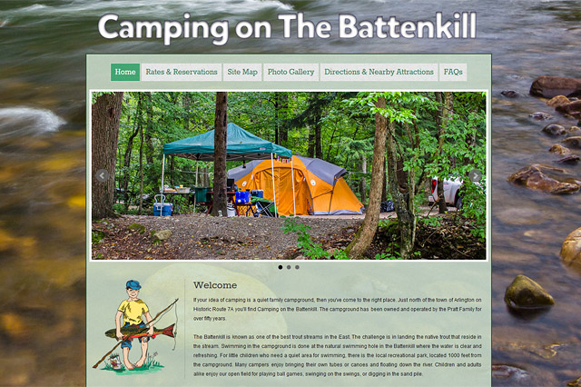 Camping on the Battenkill: Responsive Website by Pelland Advertising