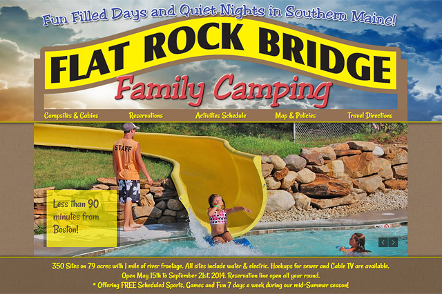 Flat Rock Bridge Family Camping: Responsive Website by Pelland Advertising