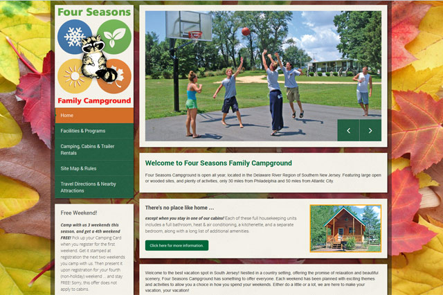 Four Seasons Campground: Responsive Website by Pelland Advertising