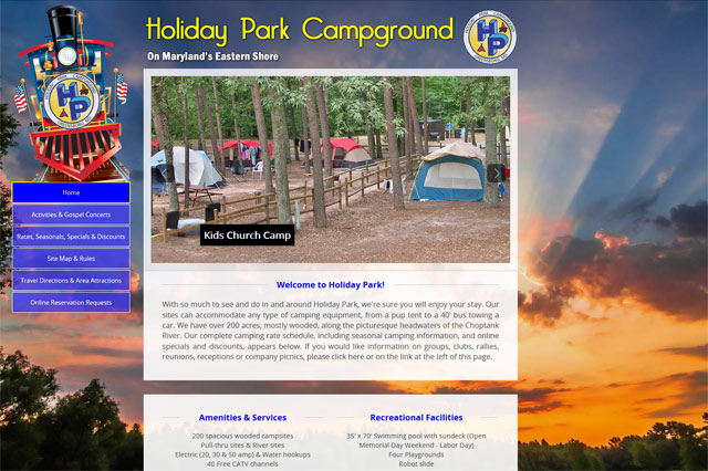 Holiday Park: Responsive Website by Pelland Advertising