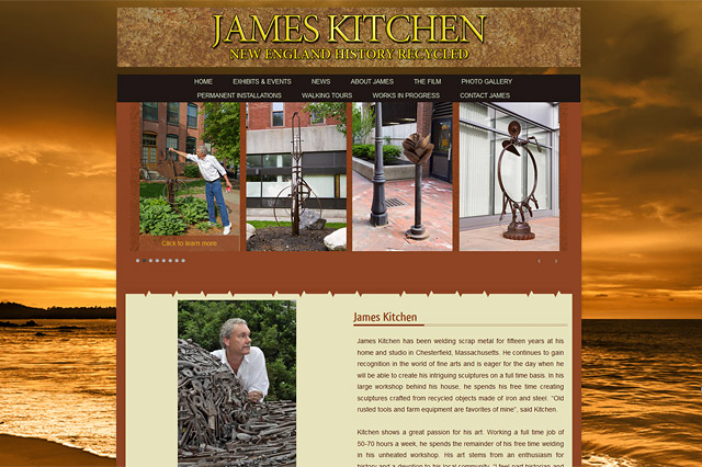 James Kitchen, Sculptor: Responsive Website by Pelland Advertising