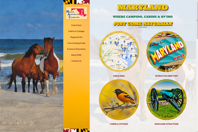 Maryland Assn of Campgrounds: Responsive Website by Pelland Advertising