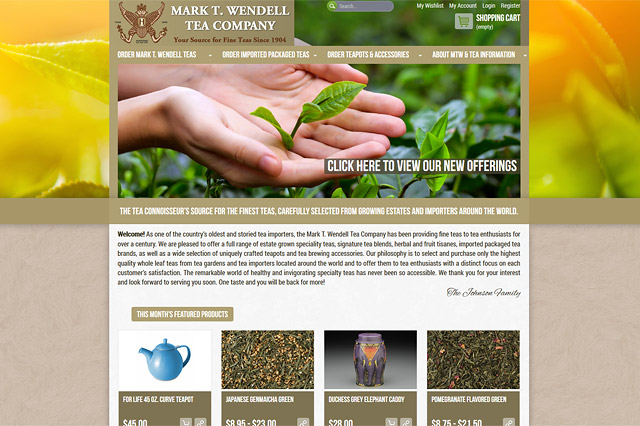 Mark T. Wendell Tea Company: Responsive E-Commerce Website by Pelland Advertising