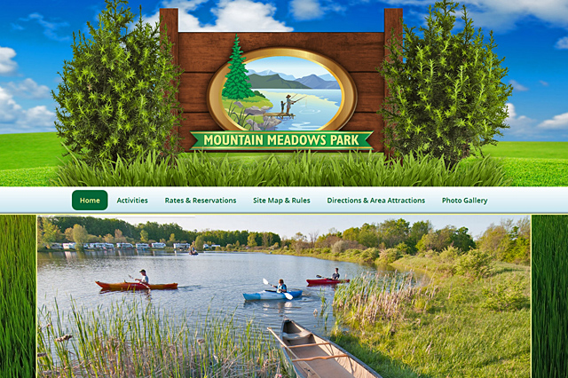Mountain Meadows Park: Responsive Website by Pelland Advertising
