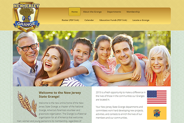 New Jersey State Grange: Responsive Website by Pelland Advertising