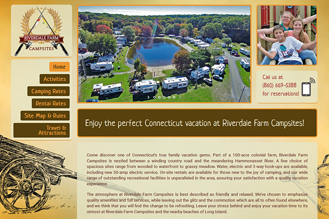 Riverdale Farm Campsites: Responsive Website by Pelland Advertising