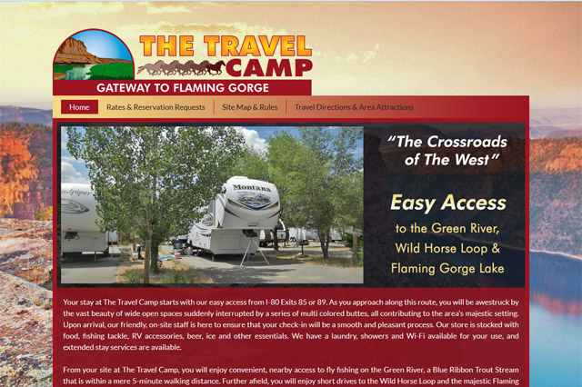 The Travel Camp: Responsive Website by Pelland Advertising