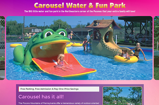 Carousel Water & Fun Park: Responsive Website by Pelland Advertising