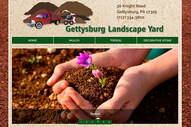 Gettysburg Landscape Yard: Responsive Website by Pelland Advertising