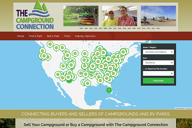 The Campground Connection: Responsive Website by Pelland Advertising