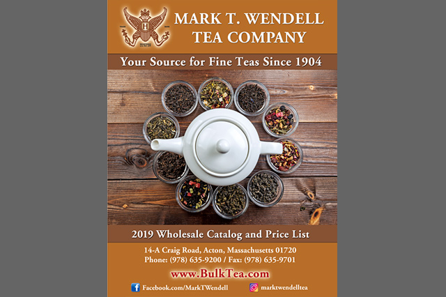 Mark T. Wendell Tea Company Wholesale Catalog by Pelland Advertising