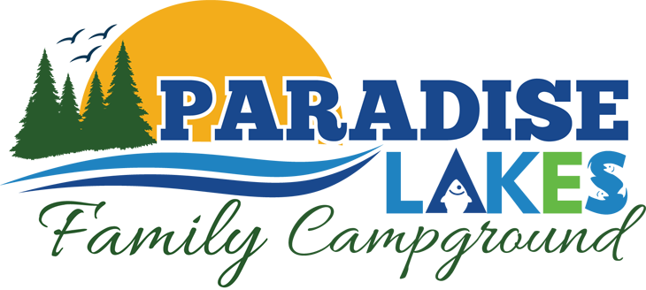 Paradise Lakes Campground Primary Logo Design