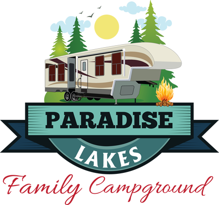 Paradise Lakes Campground Secondary Logo Design