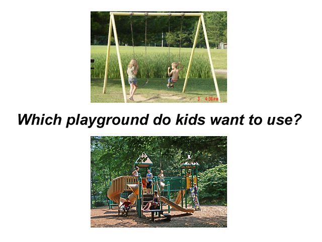 Which playground do kids want to use?