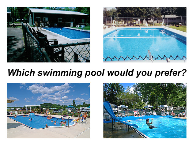 Which swimming pool would you prefer?