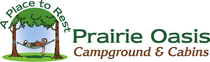 Prairie Oasis Campground & Cabins – Horizontal Logo Variation