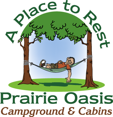 Prairie Oasis Campground & Cabins – Square Logo Variation