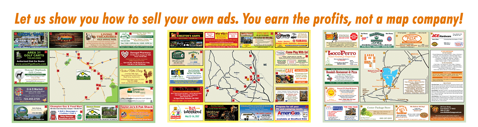 Sell your own ad site maps