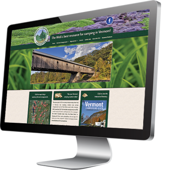The Vermont Campground Association - An example of responsive website development from Pelland Advertising