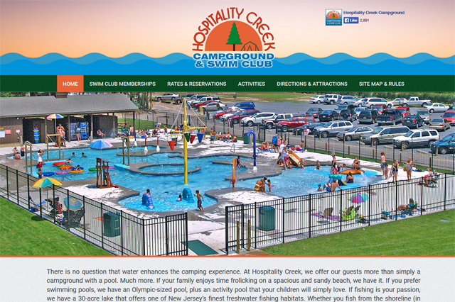 Hospitality Creek Campground & Swim Club: Responsive Website by Pelland Advertising