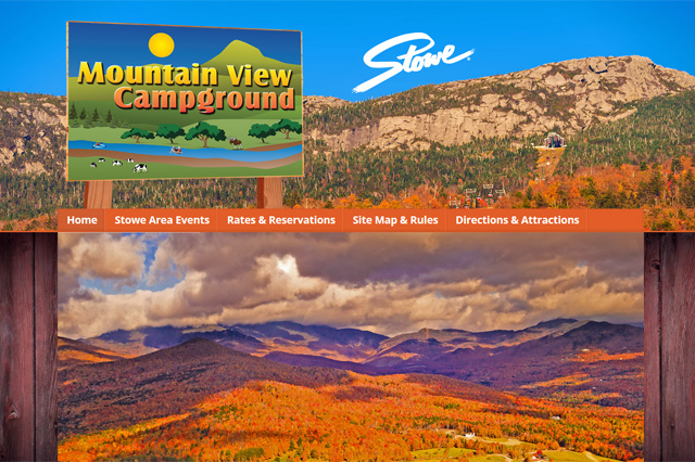 Mountain View Camppground: Responsive Website by Pelland Advertising