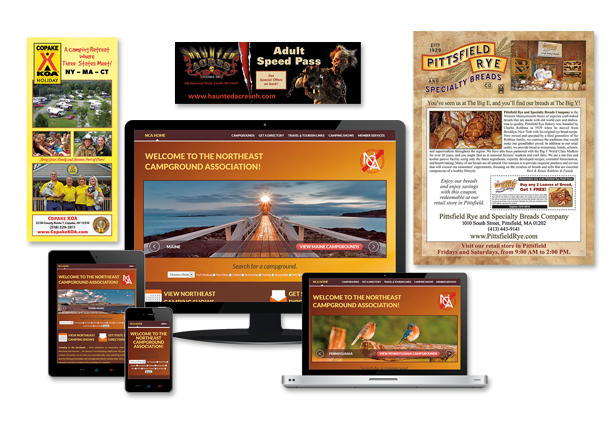 Pelland Advertising produces responsive websites and a full range of collateral advertising.