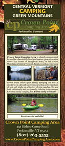 Crown Point Camping Area Rack Card Front