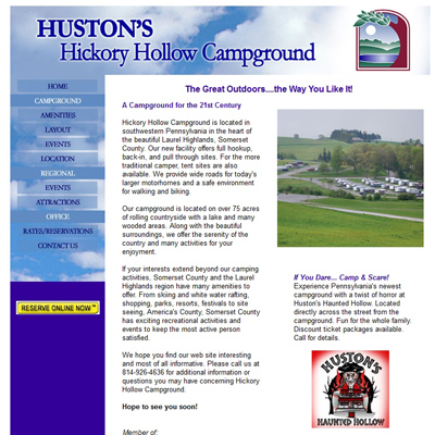 Hickory Hollow Campground - Old Site