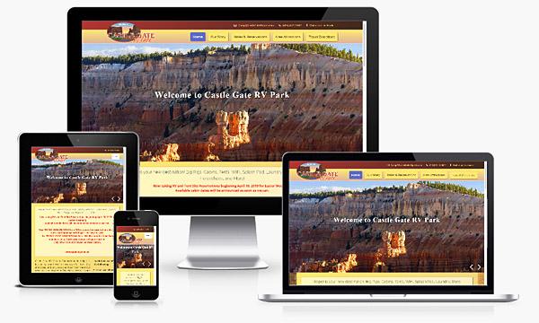 Castle Gate RV Park - New Responsive Website