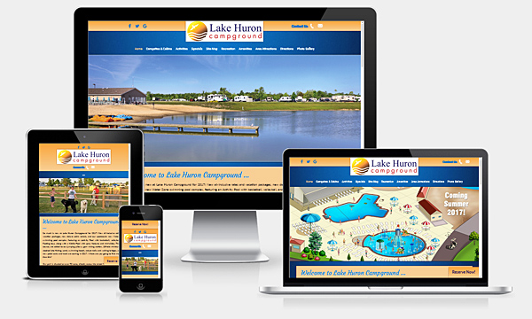Lake Huron Campground - New Responsive Website