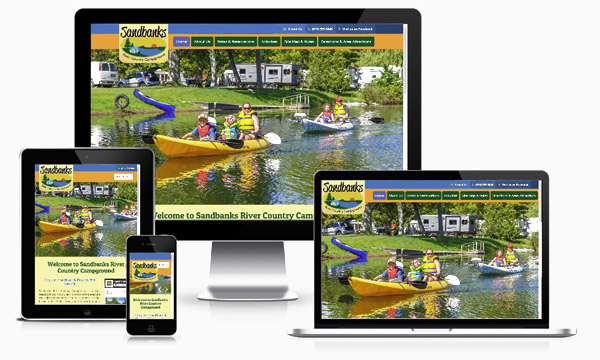 Sandbanks River Country Campground - New Responsive Website