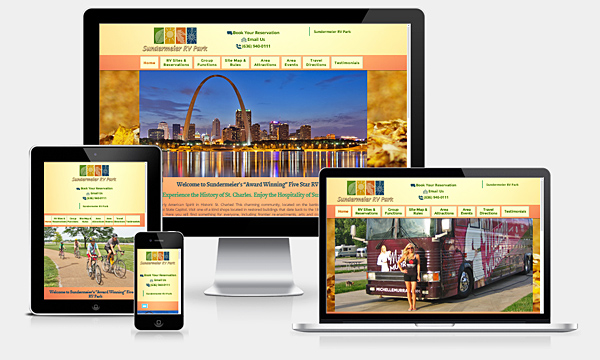 Sundermeier RV Park - New Responsive Website