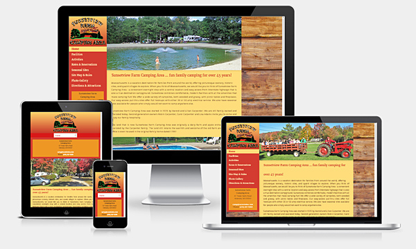 Sunsetview Farm Camping Area - New Responsive Website