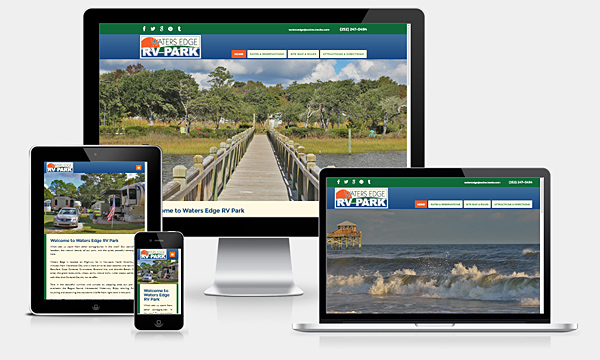 Waters Edge RV Park - New Responsive Website